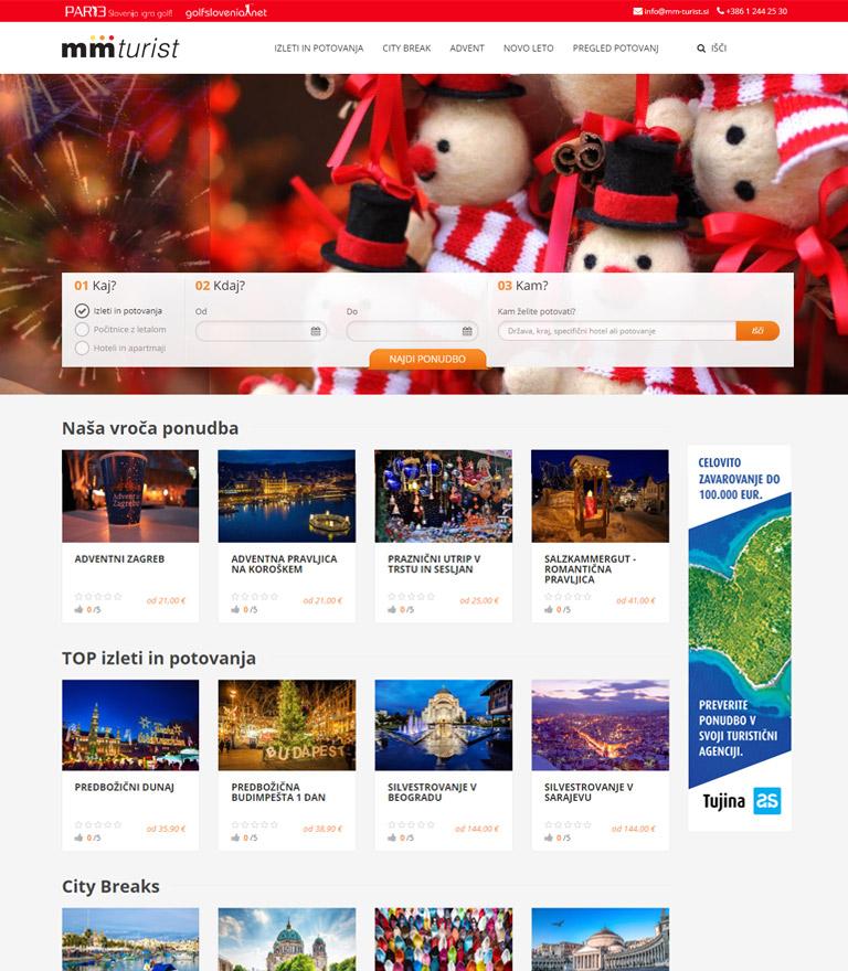 Izdelava spletnega portala za turistično agencijo MM-Turist