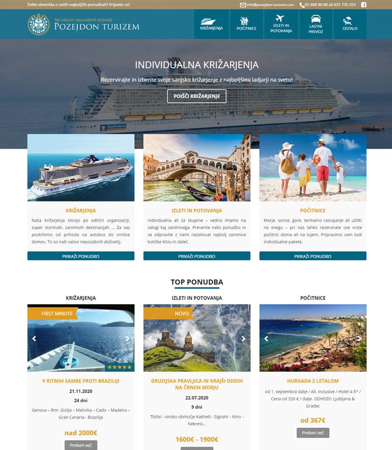Izdelava spletnega portala za turistično agencijo Pozejdon Turizem