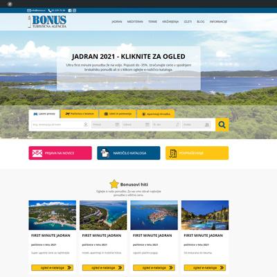 Izdelava spletnega portala za turistično agencijo BONUS